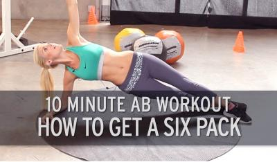 10 Minute Ab Workout: How to Get a Six Pack