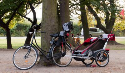 Oświetlenie Roweru Rowerem Z Dzieckiem Bezpiecznie I